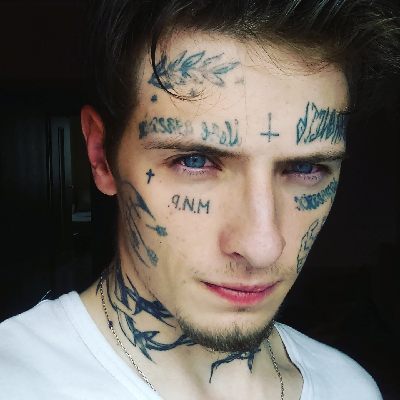 заехав город фото татуировок на лице описи