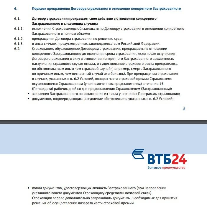 Кредит втб 24 какие документы