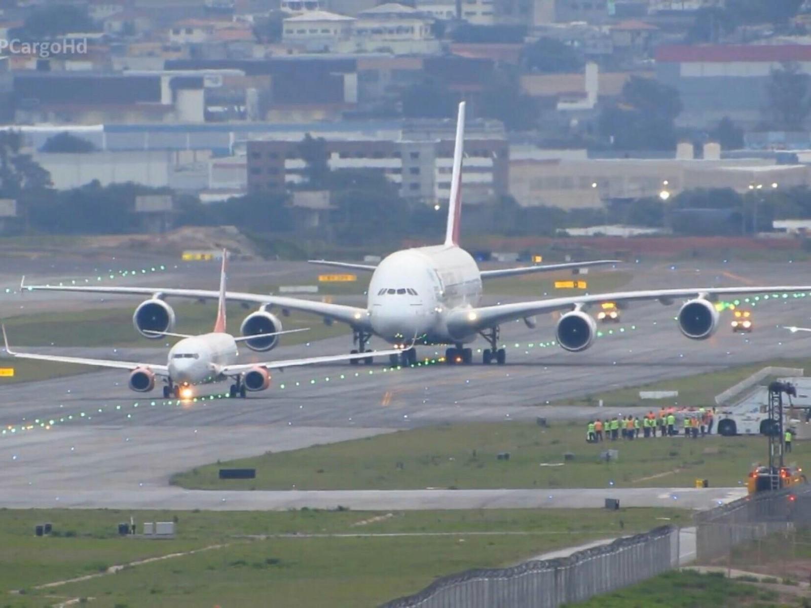 Обои airbus, авиалайнер, Самолёт, a380-800, аэробус, пассажирский. Авиация foto 15