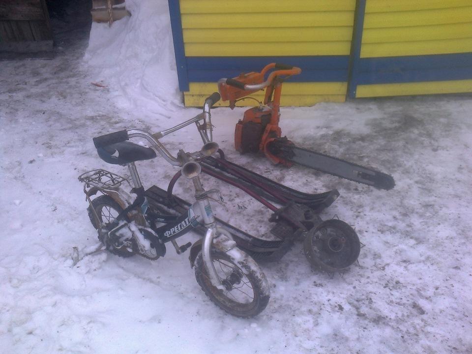 Снегоход из бензопилы и снегоката - Pikabu 39