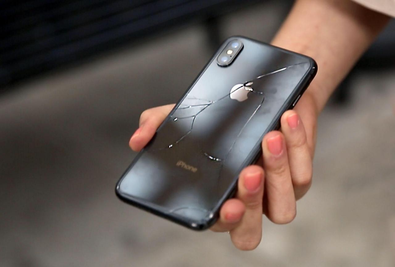 ремонт битого айфона
