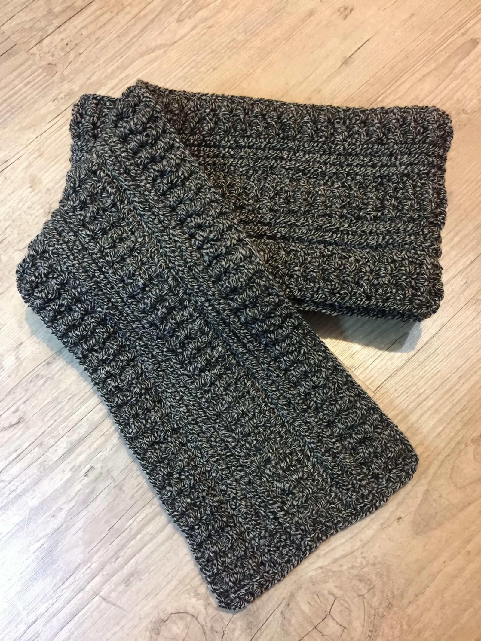 теплый зимний шарф крючком