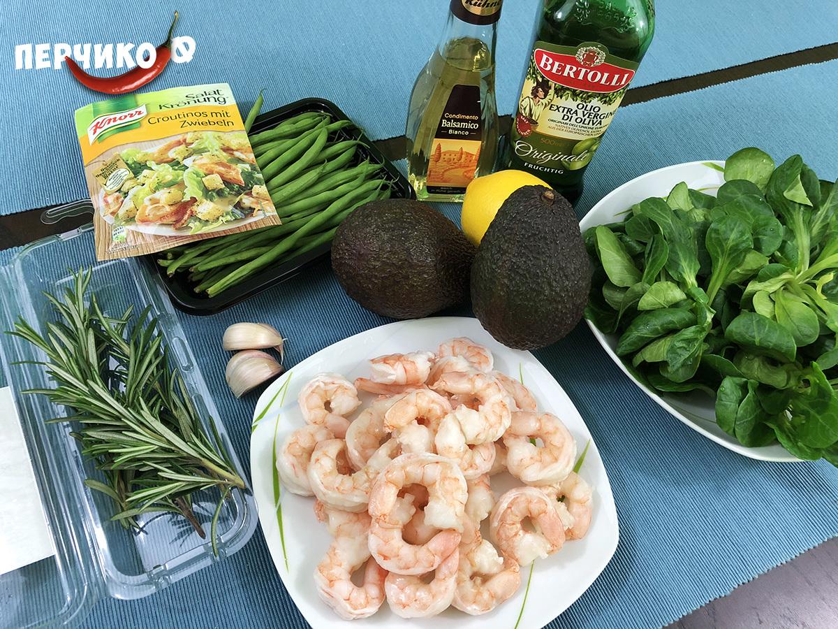 Вкусный рецепт салата с креветками видео
