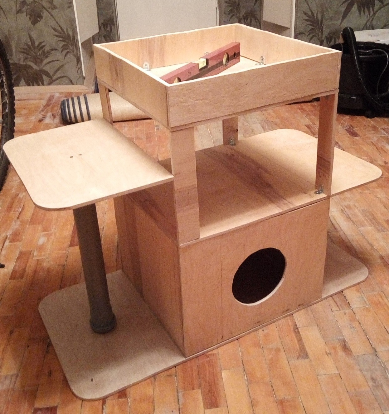 Чертеж дом для кошки своими руками фото 354
