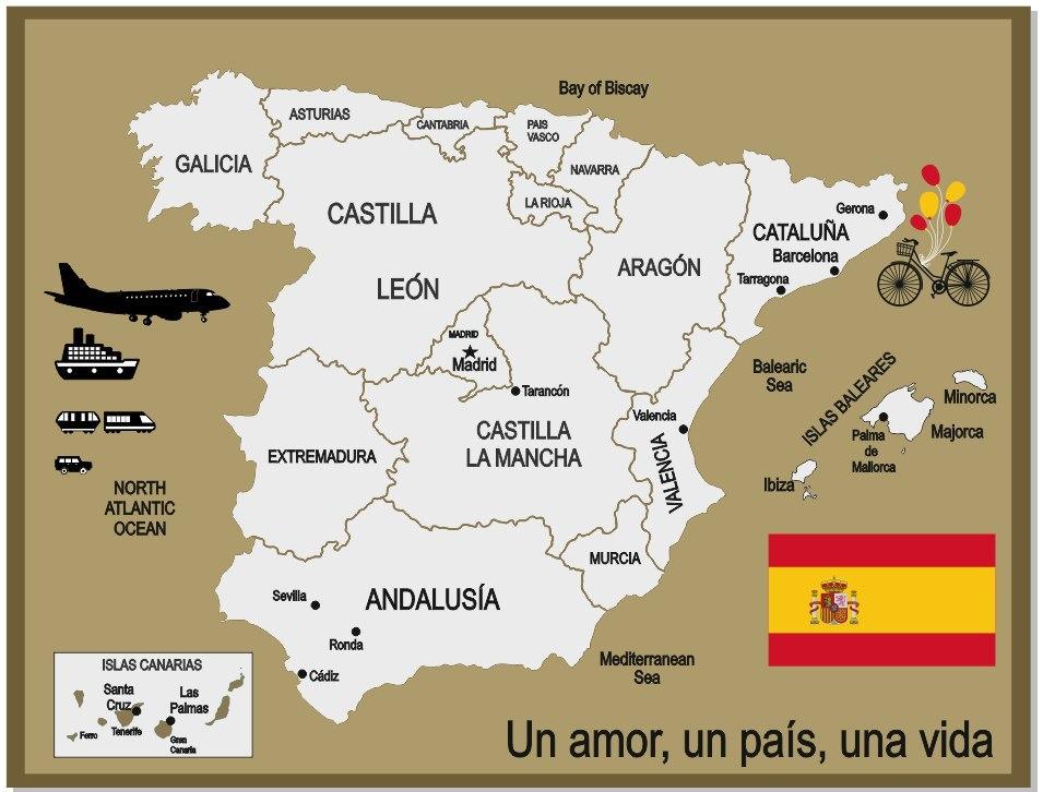 Podarok Karta Ispanii V Vide Mozaiki Pikabu