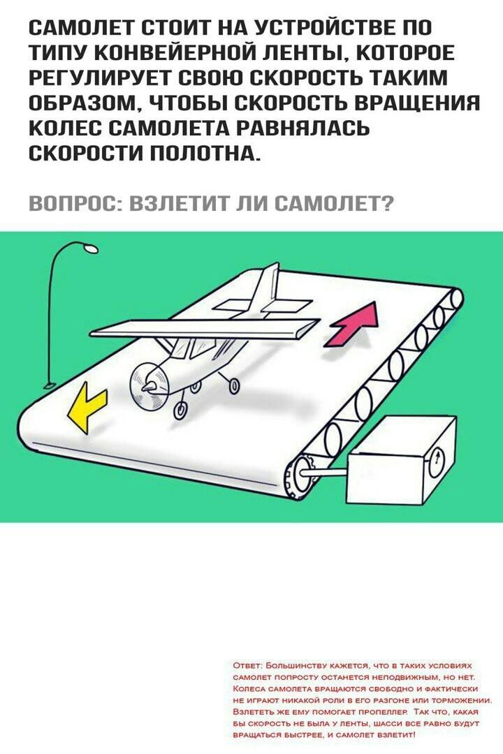 самолет на конвейере ответ