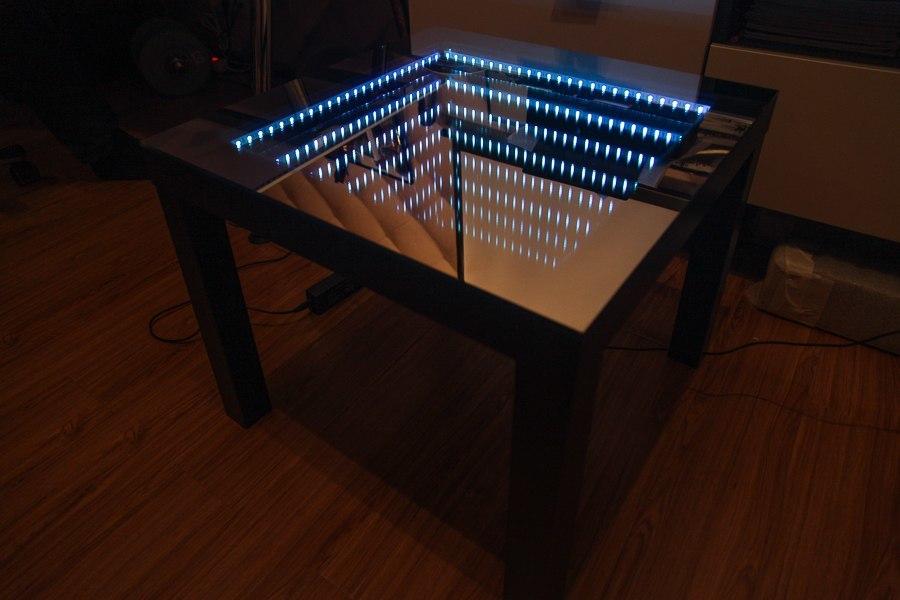Светодиодный столик своими руками