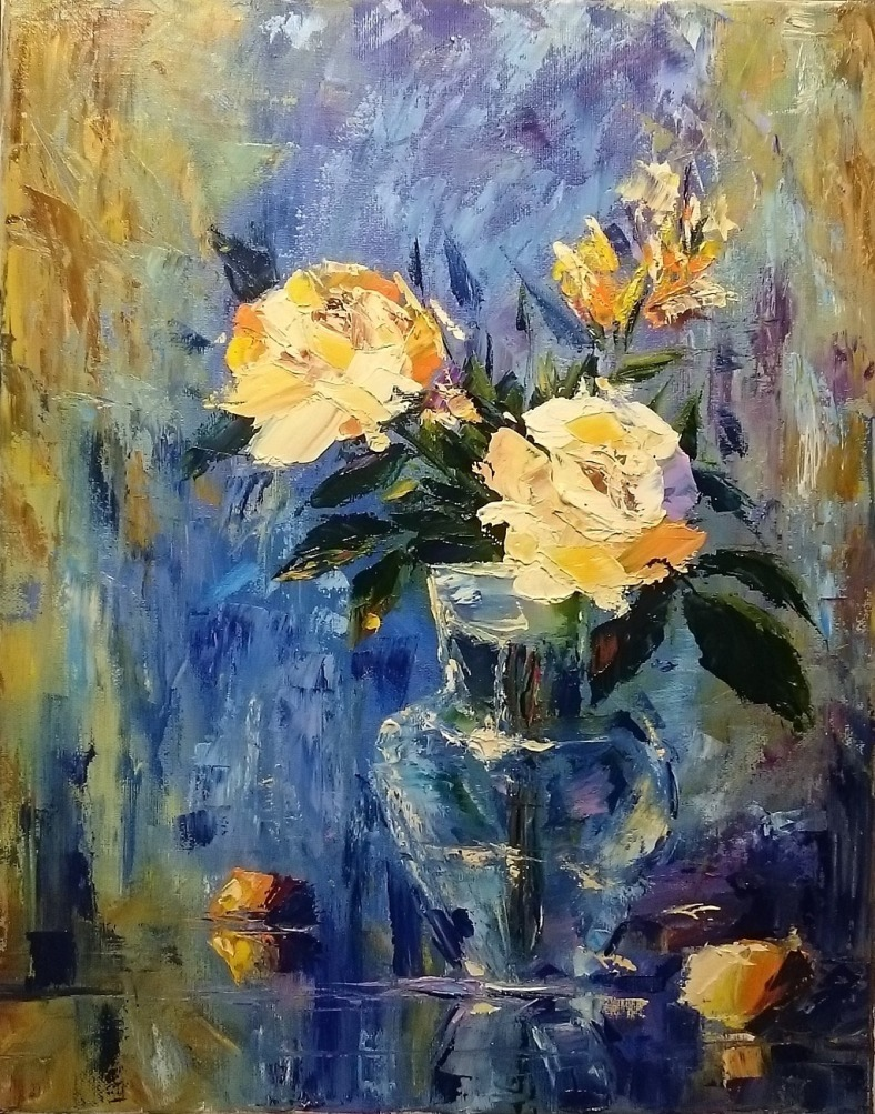 Научиться рисовать цветы, букет, живопись маслом