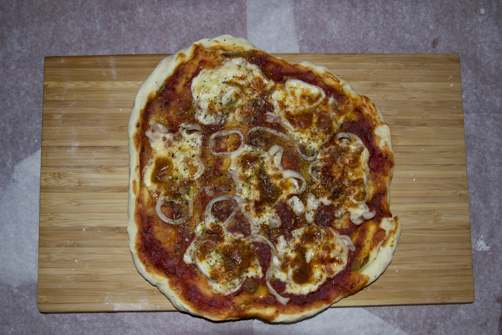 пицца рецепт с кальмарами