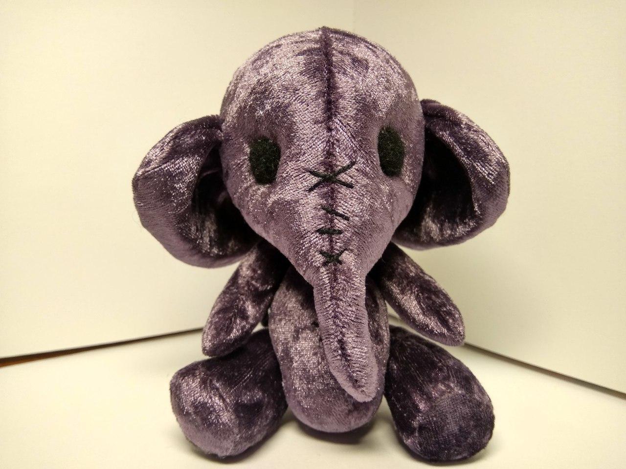 Мягкая игрушка выкройка слоник