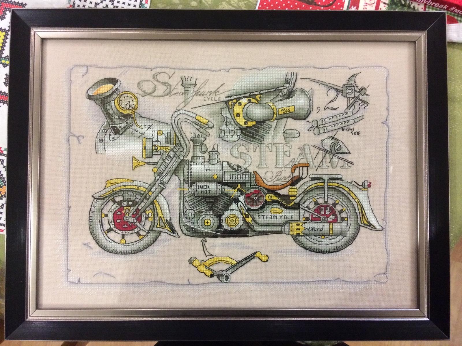Схема вышивки крестом мотоцикла фото 932