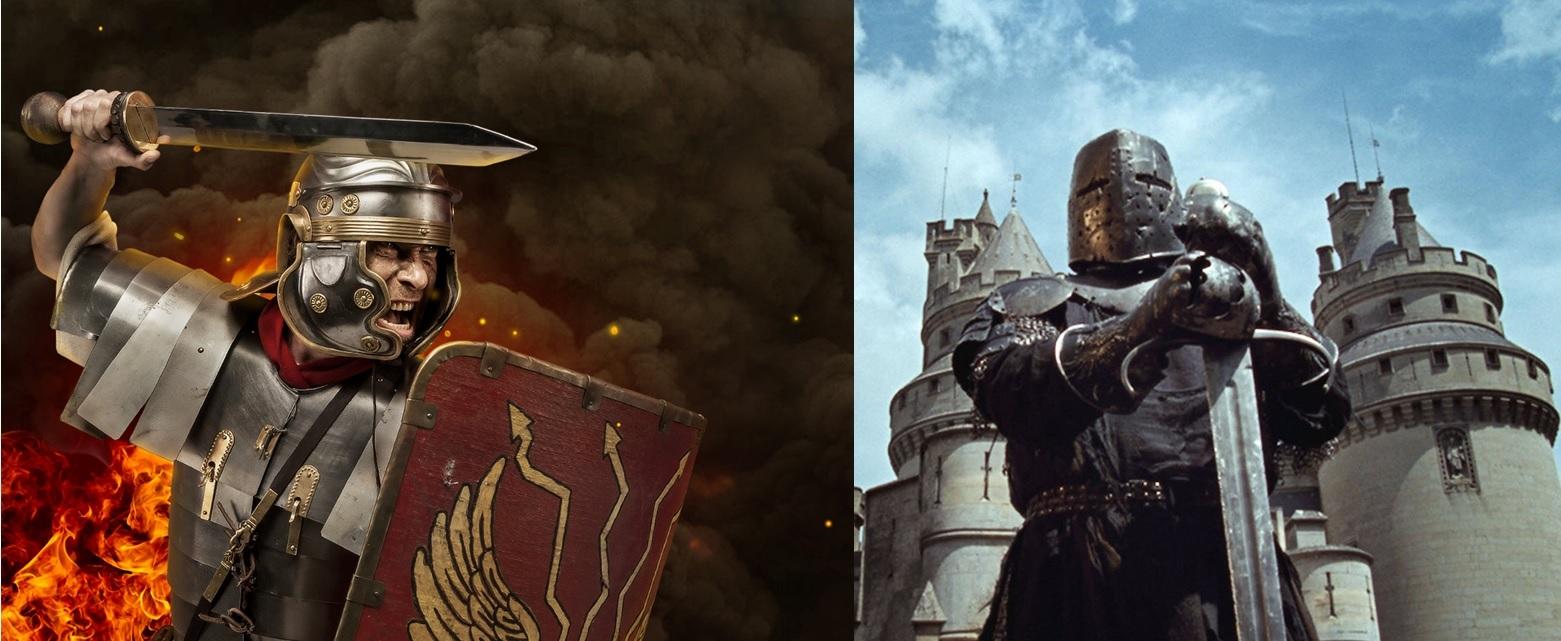 Обои «воин»), замок, доспех, мост, рацарь, осада, всадник, оружие, штурм. Разное foto 9