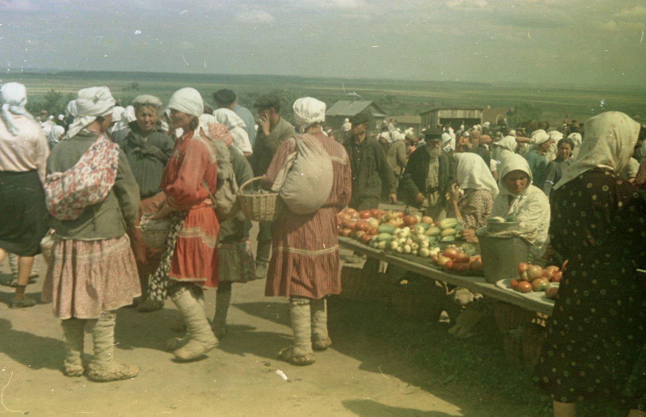 Старые фото. СССР. Рынок в Краснослободске, 1952 г. | Пикабу