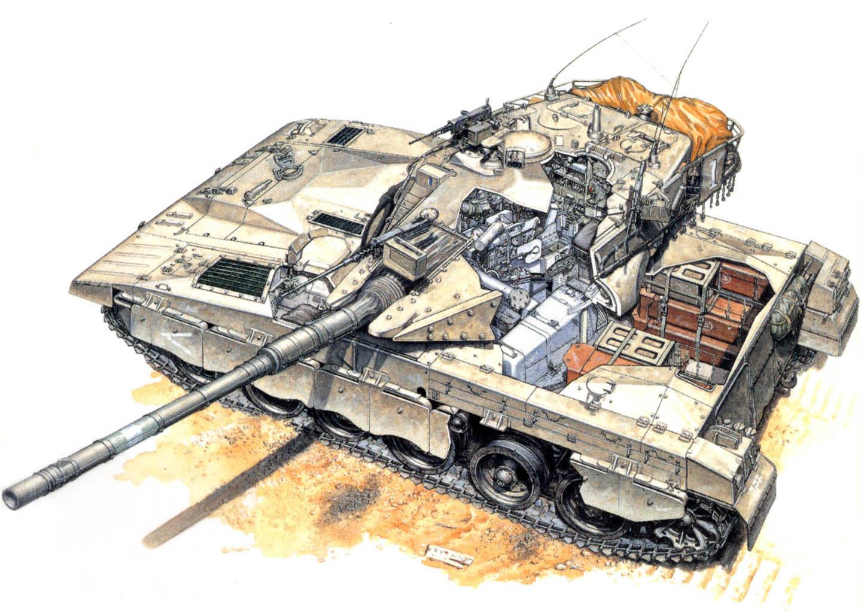 Как устроен израильский танк Merkava Merkava, танка, Место, башни, командира, экипажа, орудия, прицела, механикаводителя, справа, корпуса, можно, слева, части, расположен, корме, Помимо, заряжающего, место, через