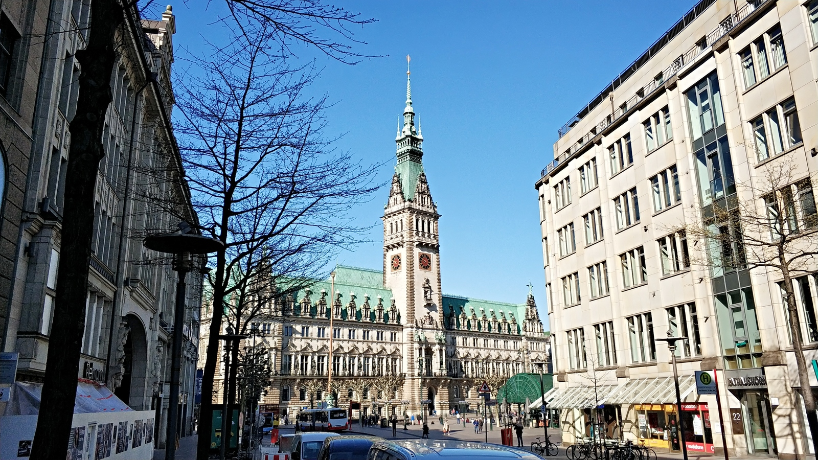 Обои улица, германия, здания, гамбург, красота, Облака. Города foto 18