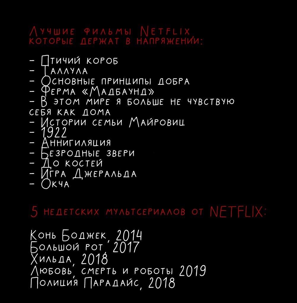 подборка лучших сериалов и фильмов от Netflix