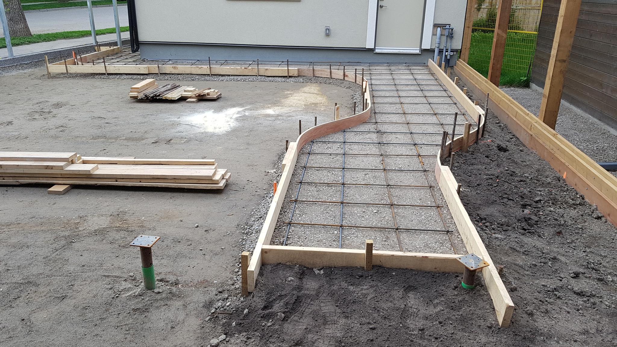 поливаем бетон