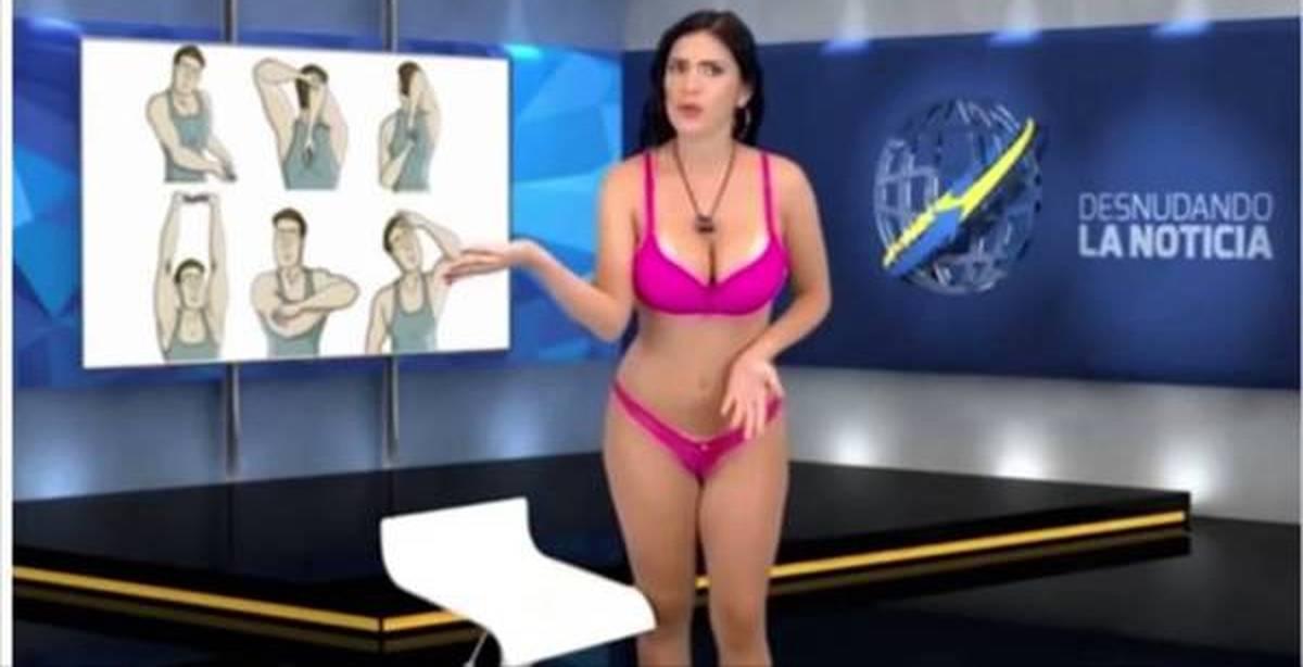 Видео телеведущая сняла бюстгальтер, порно видео анал смотреть через телефон
