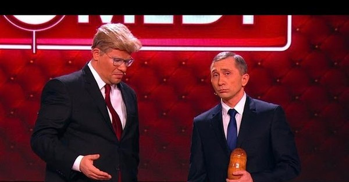 Трамп и Путин играют в крокодил в Comedy фрагмент из ...